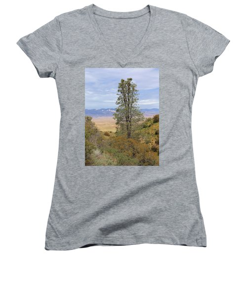 View From Pine Canyon Rd Women's V-Neck