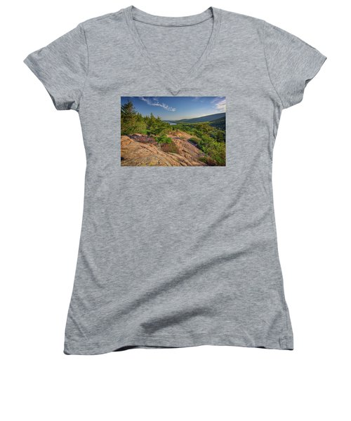 View From South Bubble Women's V-Neck T-Shirt (Junior Cut) by Rick Berk
