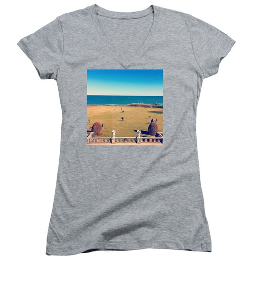 Looking Out From The Gilded Age Women's V-Neck (Athletic Fit)