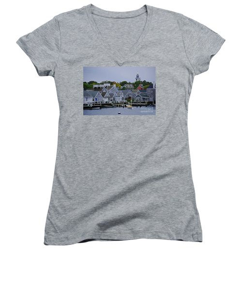 View From The Water Women's V-Neck T-Shirt (Junior Cut)