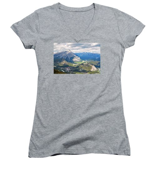View Of Banff Women's V-Neck (Athletic Fit)
