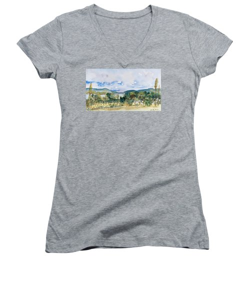 View Of D'entrecasteaux Channel From Birchs Bay, Tasmania Women's V-Neck
