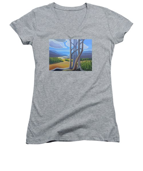 View Of The Lake Women's V-Neck (Athletic Fit)