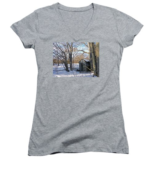 View Of The Past Women's V-Neck T-Shirt