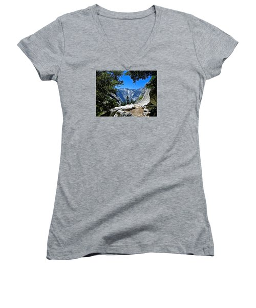 View Of The Sphinx Women's V-Neck T-Shirt (Junior Cut) by Amelia Racca