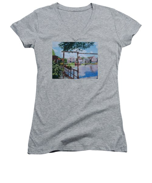 View On Hillegersberg Women's V-Neck (Athletic Fit)