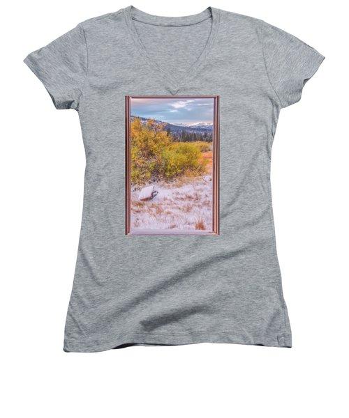 View Out Of A Broken Window Women's V-Neck T-Shirt (Junior Cut) by Marc Crumpler