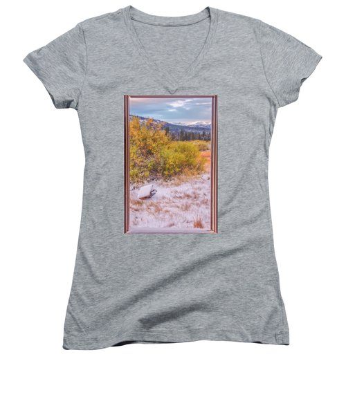 View Out Of A Broken Window Women's V-Neck