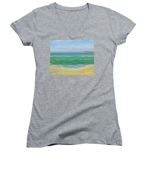 View To The Pier Women's V-Neck