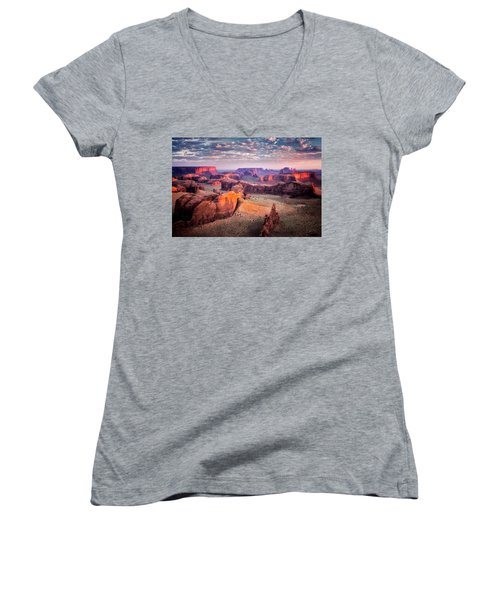 Views From The Edge  Women's V-Neck T-Shirt