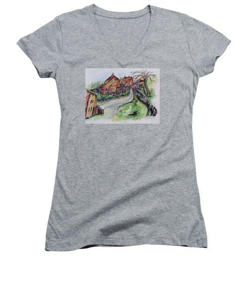 Village Back Street Women's V-Neck