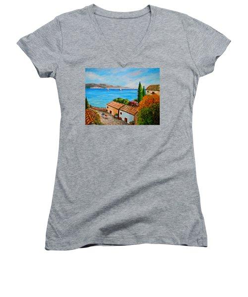 Village Perigiali / Greece Women's V-Neck T-Shirt