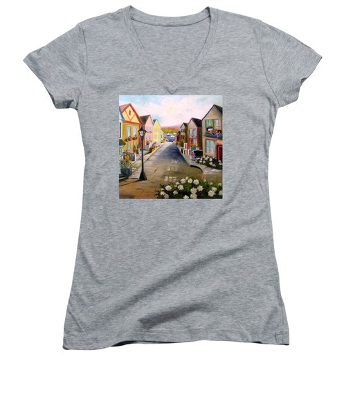 Village Street Women's V-Neck T-Shirt