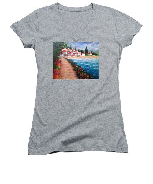 Villas By The Sea Women's V-Neck (Athletic Fit)