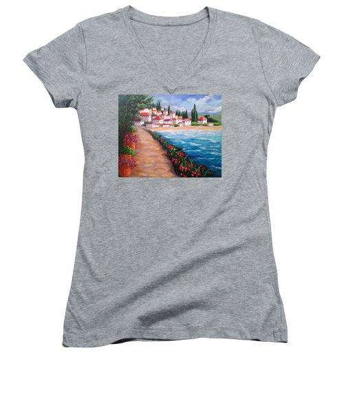 Villas By The Sea Women's V-Neck T-Shirt
