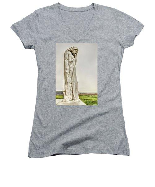 Vimy Memorial - Canada Bereft Women's V-Neck T-Shirt