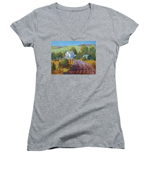 Vineyard Farm In Cambria Women's V-Neck (Athletic Fit)