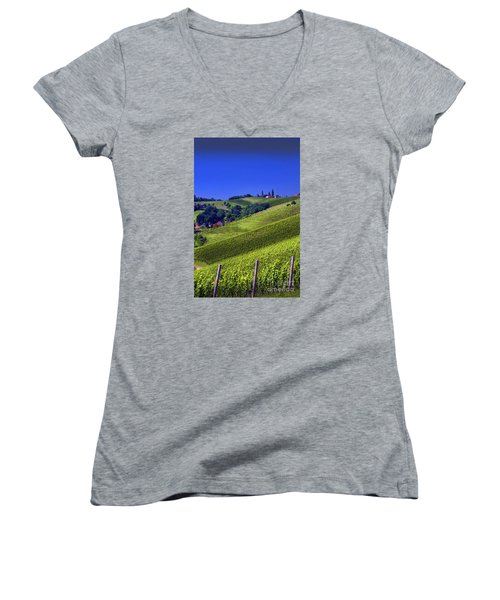Vineyards Of Jerusalem Slovenia Women's V-Neck T-Shirt