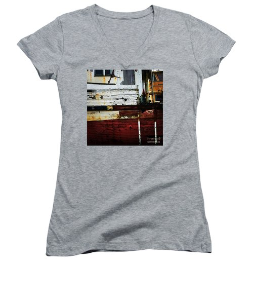 Vintage Astoria Ship Women's V-Neck