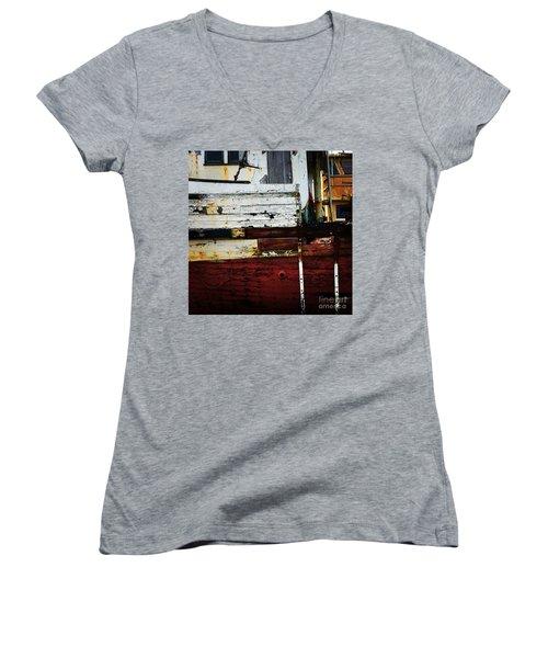 Vintage Astoria Ship Women's V-Neck T-Shirt