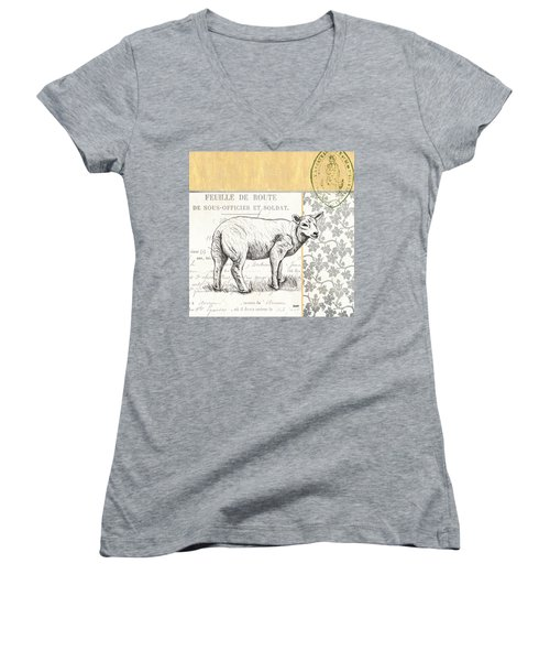 Vintage Farm 3 Women's V-Neck (Athletic Fit)