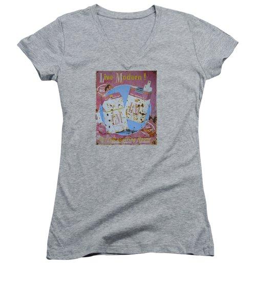 Vintage L And M Cigarette Sign Women's V-Neck T-Shirt