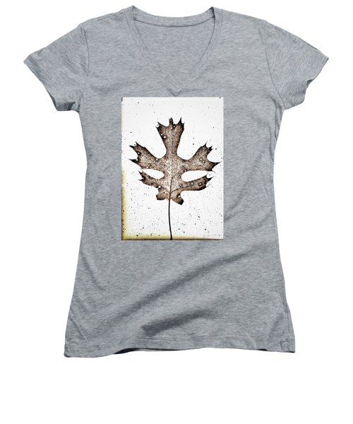 Vintage Leaf Women's V-Neck (Athletic Fit)