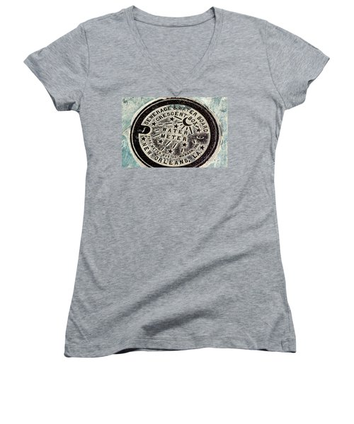 Vintage New Orleans Water Meter Women's V-Neck (Athletic Fit)