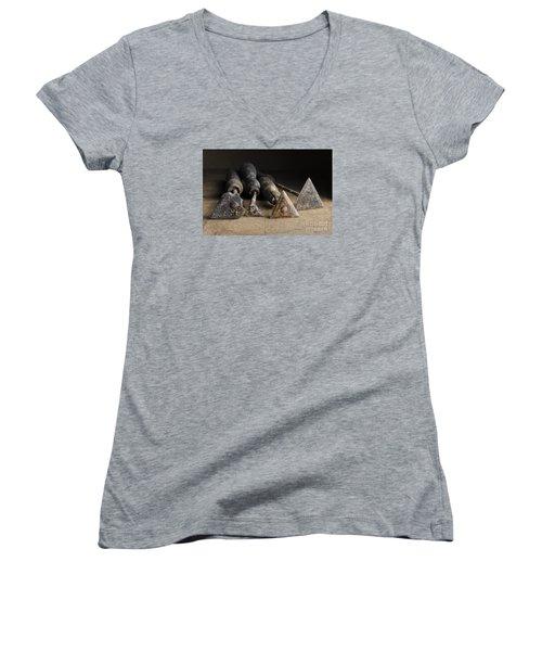 Vintage Paint Scrapers. Women's V-Neck T-Shirt