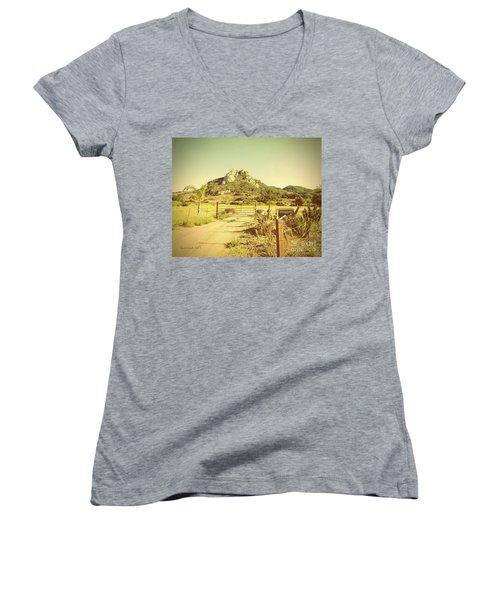 Vintage San Luis Obispo California Seven Sisters  Women's V-Neck T-Shirt