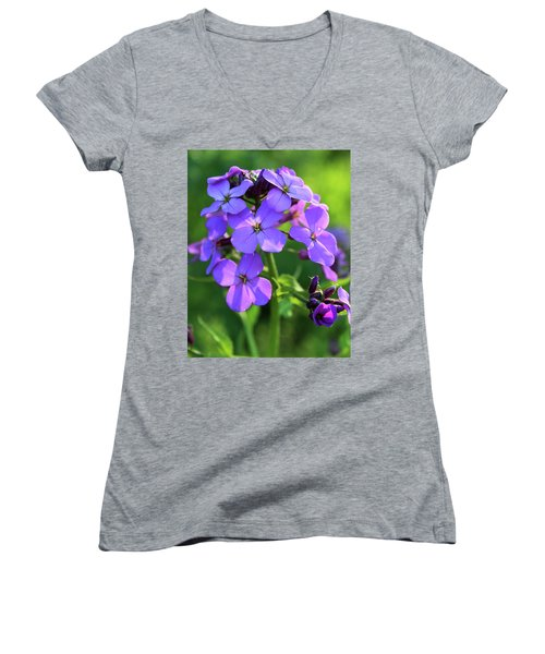 Purple Flower Women's V-Neck