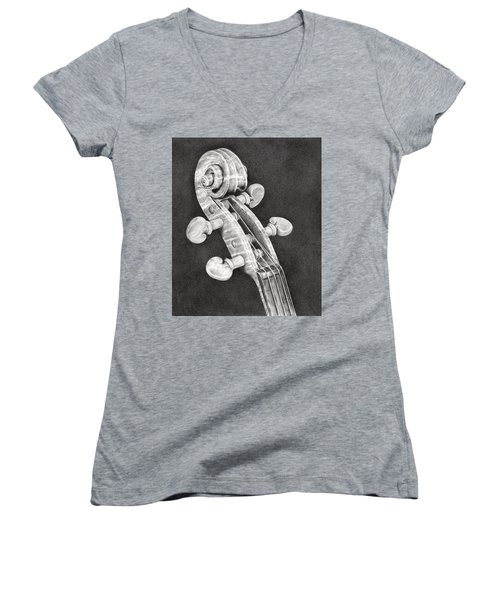Violin Scroll Women's V-Neck