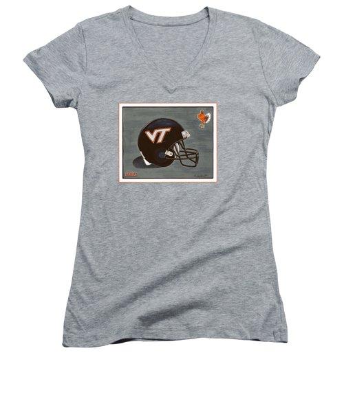 Virginia Tech T-shirt Women's V-Neck T-Shirt