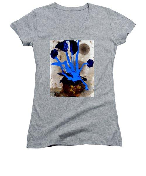 Virtually Blue Women's V-Neck T-Shirt