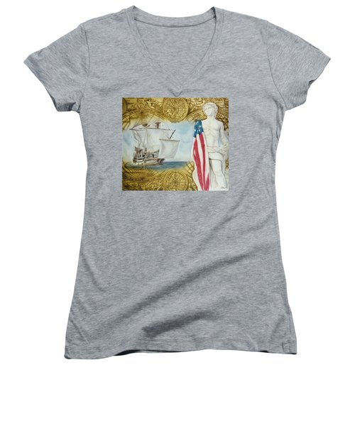 Visions Of Discovery Women's V-Neck (Athletic Fit)