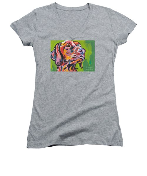 Viva La Vizsla Women's V-Neck T-Shirt
