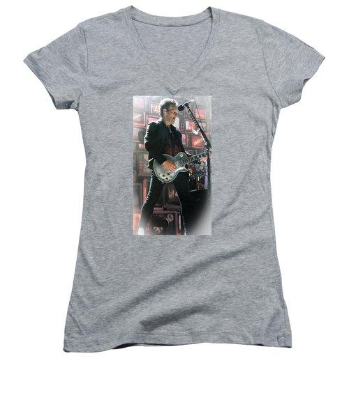 Vivian Campbell Women's V-Neck T-Shirt (Junior Cut) by Luisa Gatti