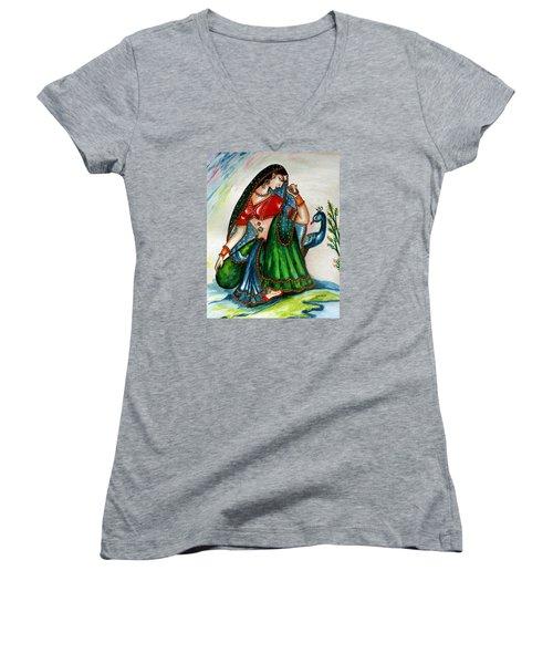 Viyog Women's V-Neck T-Shirt (Junior Cut) by Harsh Malik