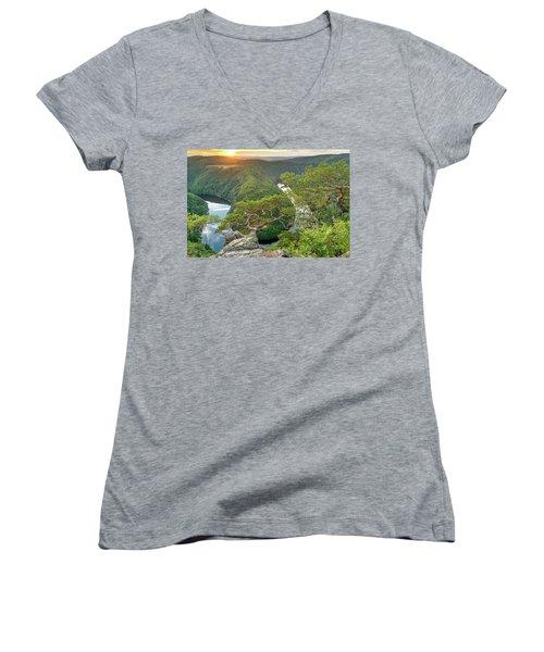 Vltava River Women's V-Neck T-Shirt