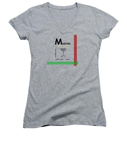 Vodka Martini Women's V-Neck T-Shirt (Junior Cut)