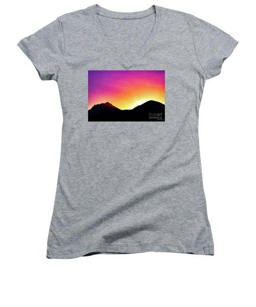 Volcanic Sunrise Women's V-Neck