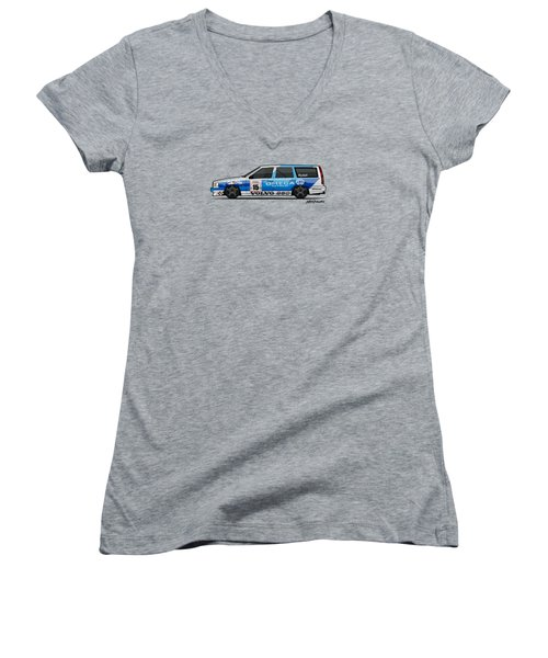Volvo 850r Twr British Touring Car Championship  Women's V-Neck (Athletic Fit)