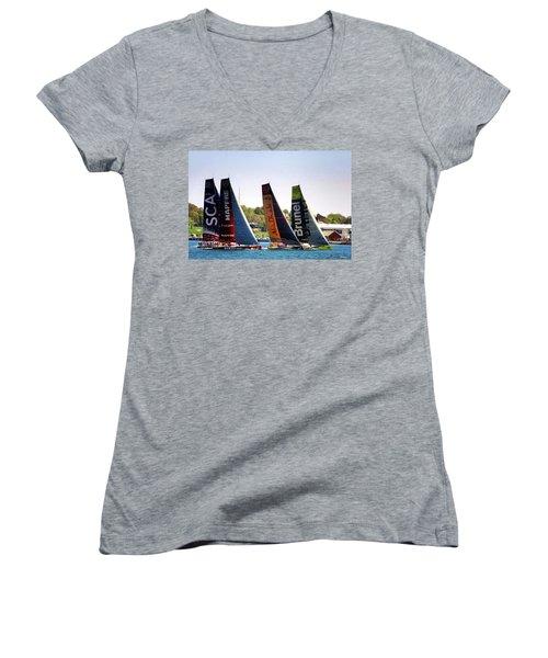 Volvo Ocean Race Newport Ri Women's V-Neck T-Shirt