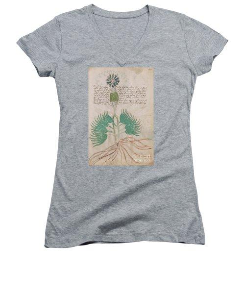 Voynich Flora 16 Women's V-Neck (Athletic Fit)