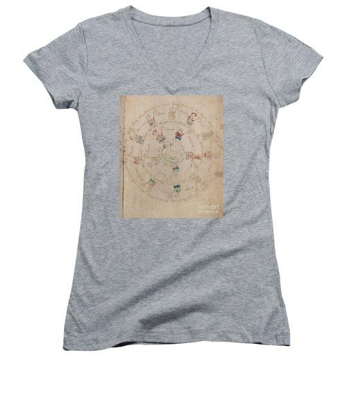 Voynich Manuscript Astro Aries Women's V-Neck (Athletic Fit)