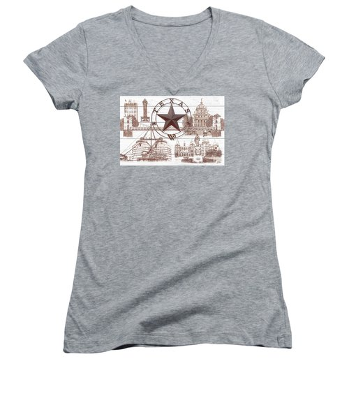 Waco Texas Women's V-Neck (Athletic Fit)