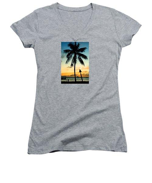 Waikiki Sunset Women's V-Neck