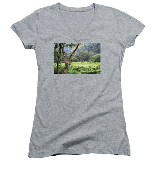 Waipio Valley Road Rules Women's V-Neck