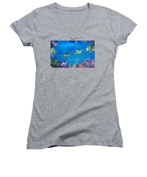 Wait For Me Women's V-Neck T-Shirt
