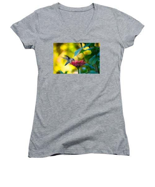 Waiting For Butterflies Women's V-Neck T-Shirt (Junior Cut) by Craig Szymanski